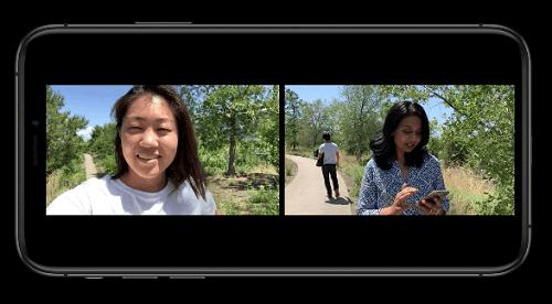 تحديث iOS 13 - تسجيل الفيديو من الكاميرا الأمامية والخلفية