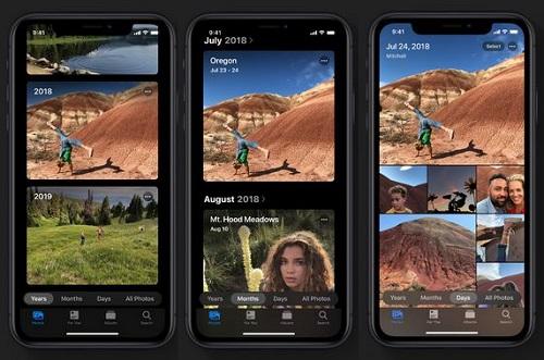 iOS 13 - تطبيق الصور