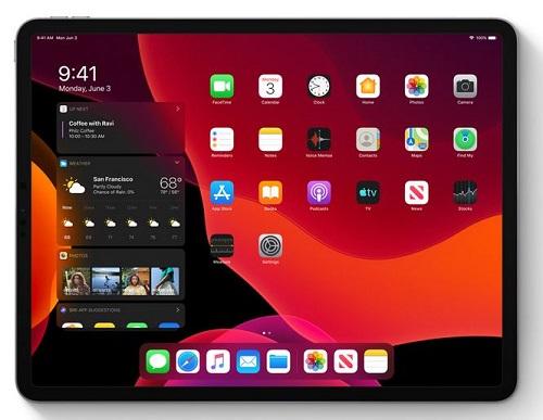 iPadOS - إضافة الويدجت للشاشة الرئيسية