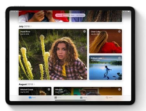 iPadOS - تطبيق الصور