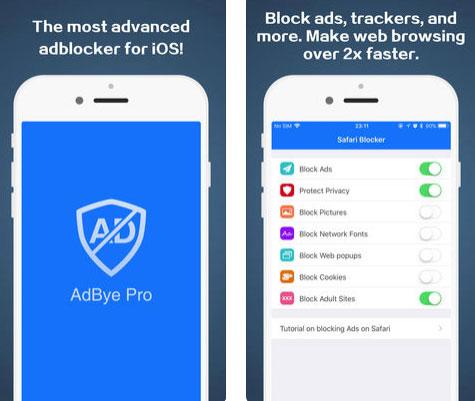 تطبيق AdBye Pro لحجب الإعلانات على سفاري