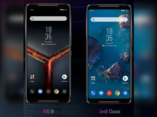 الواجهة العادية وواجهة الألعاب على Asus ROG Phone 2
