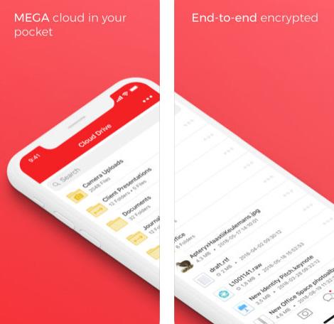 تطبيق MEGA - سعة تخزين مجانية
