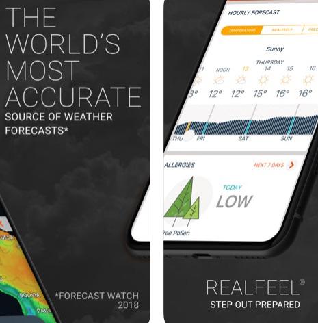 تطبيق AccuWeather لمتابعة الأحوال الجوية