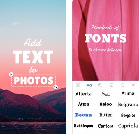 تطبيق Add Text للكتابة على الصور