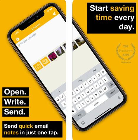 تطبيق Email Me - أرسل بريد إلكتروني إلى نفسك!