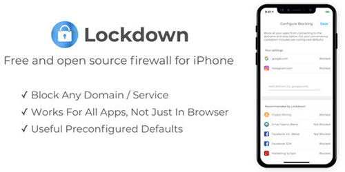 تطبيق Lockdown Apps - جدار ناري للآيفون