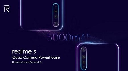 تسريب Realme 5 و Realme 5 Pro مع كاميرا رباعية وبطارية 5000 ملي أمبير