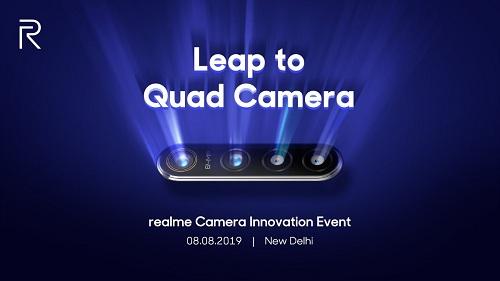 ريلمي تحدد موعد الإعلان عن أول هاتف مع كاميرا رباعية بدقة 64 ميجابيكسل