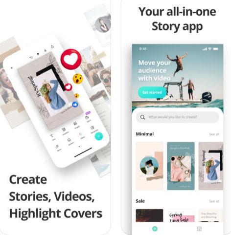 تطبيق تصميم الفيديو والحالات Canva Stories & Video Maker