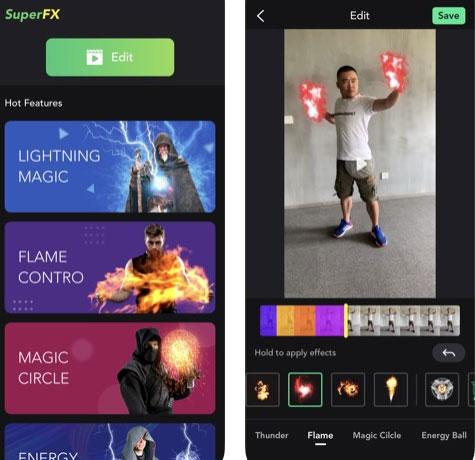 تطبيق SuperFX لصنع مقاطع فيديو بتأثيرات احترافية