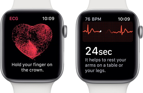 Apple Watch Series 4، ساعة آبل، ساعة آبل رسم القلب