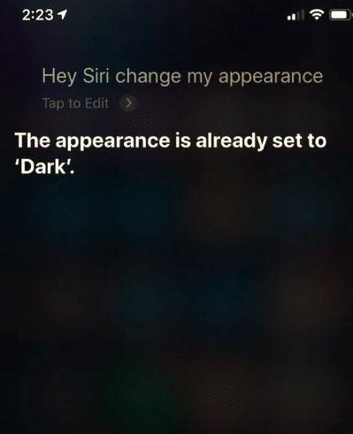 تفعيل الوضع الليلي عبر سيري في iOS 13