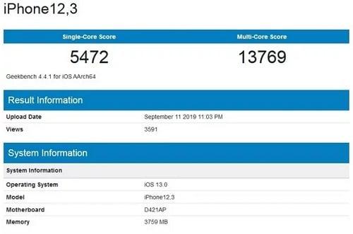 اختبارات الأداء لمعالج Apple A13
