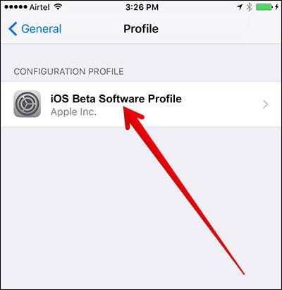 إلغاء الاشتراك في البرنامج التجريبي قبل التحديث إلى iOS 13