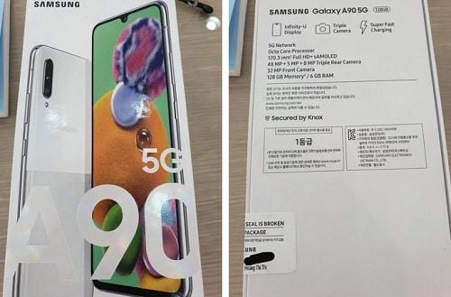 تسريب المواصفات النهائية وعلبة Samsung Galaxy A90 5G استعداداً لإطلاقه