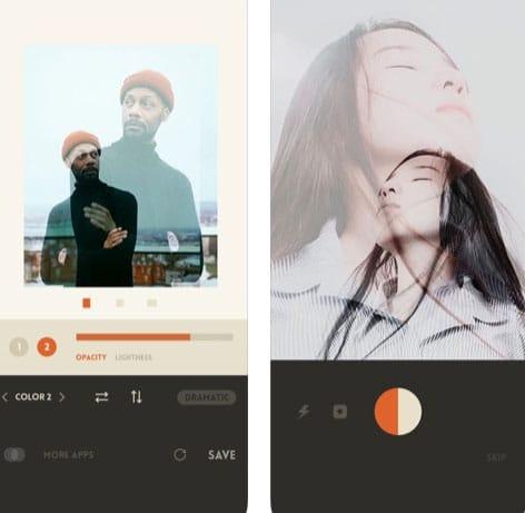 تطبيق Overlap لعمل تأثير مميز على الصور