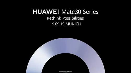 هواوي تعلن عن موعد إطلاق سلسلة Huawei Mate 30