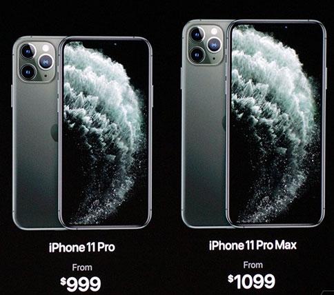 السعر المبدئي لهواتف آيفون 11 برو وآيفون 11 برو ماكس