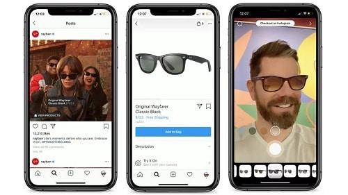 تطبيق انستجرام يقدم ميزة التسوق المعزز عبر الهاتف لتجربة المنتجات قبل الشراء
