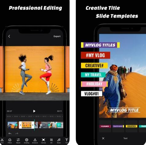 تطبيق Hollycool لتحرير الفيديو