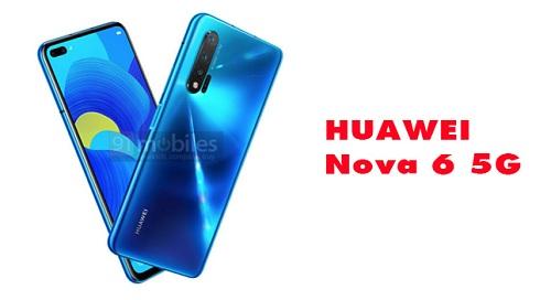 تسريب Huawei Nova 6 5G مع شاشة تشبه جالكسي S10 بلس