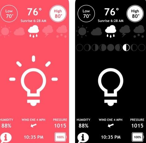 تطبيق Shake - فلاش وبوصلة وطقس