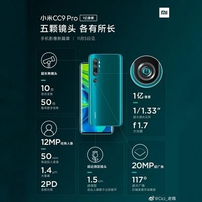 كاميرا Xiaomi Mi CC9 Pro