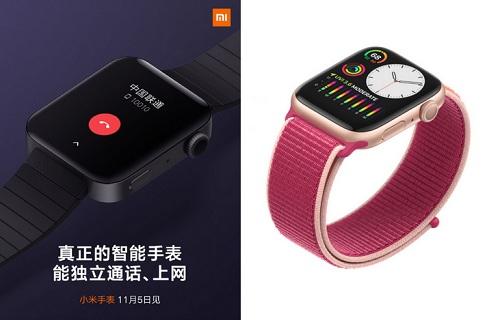 مقارنة بين تصميم Apple Watch Series 5 و Mi Watch