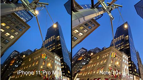 اختبار كاميرا آيفون 11 برو ماكس ضد جالكسي نوت 10 بلس: الوضع الليلي