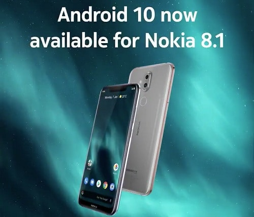 تحديث اندرويد 10 يبدأ في الوصول إلى هاتف نوكيا 8.1