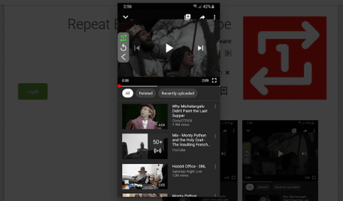 YouTube Repeater App