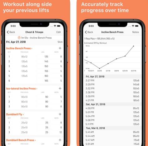 تطبيق Liftoff لتسجيل التمارين