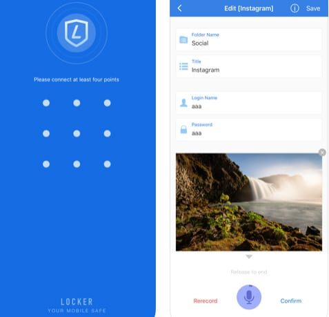 تطبيق Locker Pro لحفظ كلمات المرور