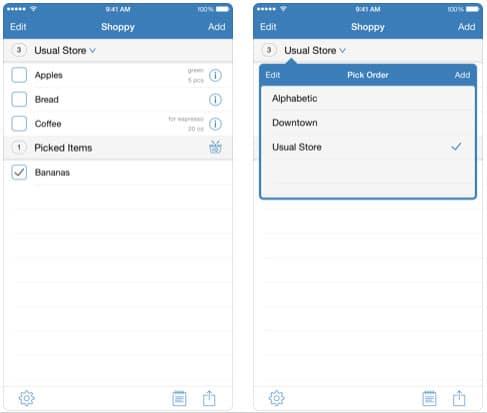 تطبيق Shoppy لإعداد القوائم