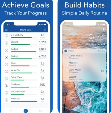 تطبيق Strides لبناء عادات جيدة وتحقيق أهدافك
