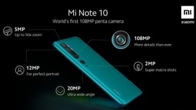 صورة تسريب تفاصيل كاميرا Xiaomi Mi Note 10 مع عدسة رئيسية 108MP!
