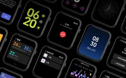 واجهة MIUI على Xiaomi Mi Watch