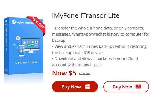 برنامج iMyFone iTransor Lite