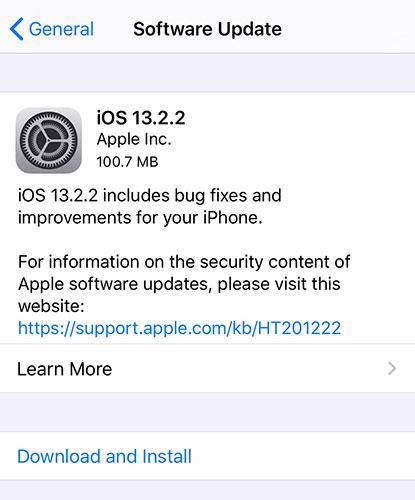 إطلاق تحديث iOS 13.2.2 لإصلاح مشكلة القفل المتكرر للتطبيقات ومشاكل أخرى!