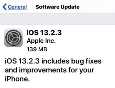 ابل تطلق تحديث iOS 13.2.3 لإصلاح عدة مشاكل في النظام