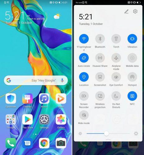 واجهة Huawei EMUI 10