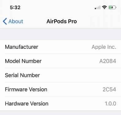 كيفية التأكد من تحديث سماعات AirPods ؟