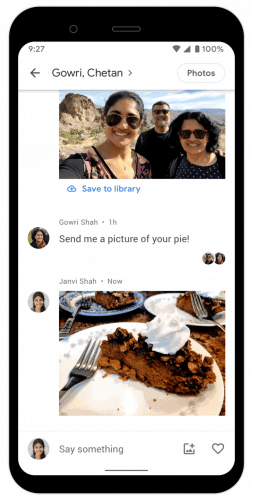 Google Photos Chat Feature