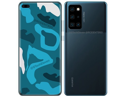 هكذا سوف يبدو هاتف هواوي P40 برو - أول هاتف راقٍ من هواوي في 2020