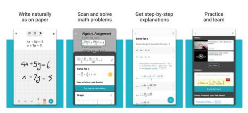تطبيق حل المسائل الرياضية Microsoft للأندرويد