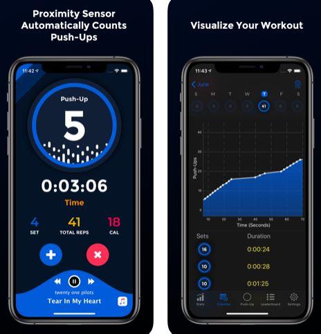 تطبيق PushFit Pro لتمارين الضغط