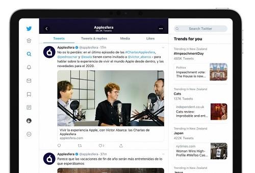 أخيراً - تطبيق تويتر للايباد يحصل على واجهة جديدة كلياً!