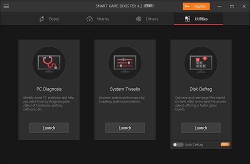 برنامج Smart Game Booster مميزات أخرى