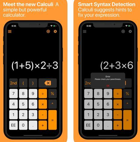 تطبيق Calculi - آلة حاسبة علمية